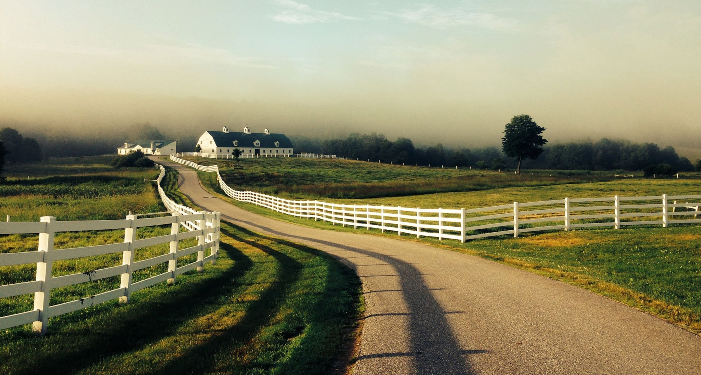 A breathtaking view of the valley at Pineland Farms