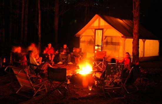 Nothing beats campfire gatherings on your adventure vacation getaway!