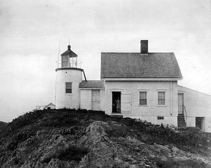 19th-century photograph of Pond Island lighthouse
