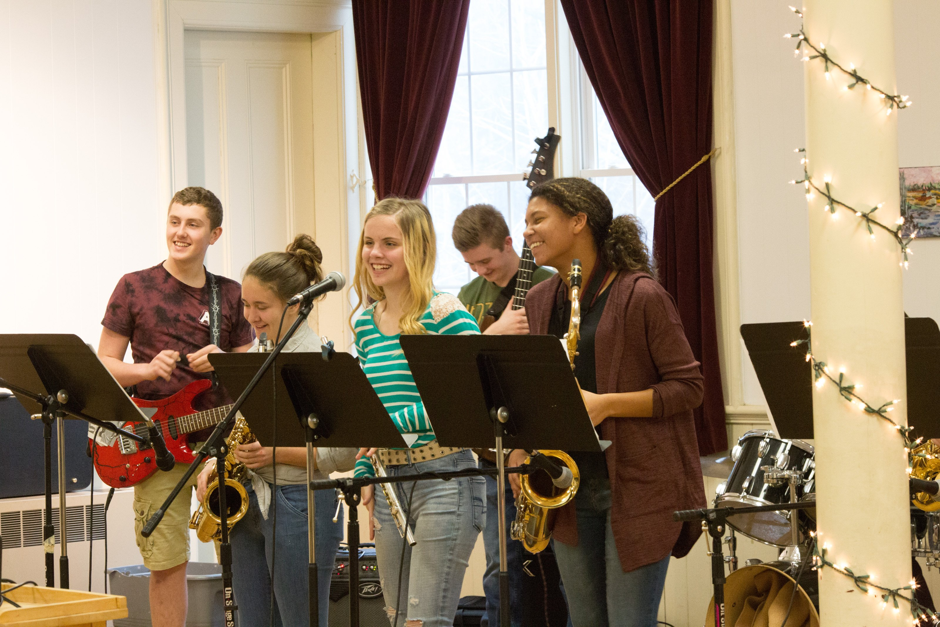 Eastport's Shead High School Jazz Band performs for the EAC's Sunday Afternoons at the Arts Center series.