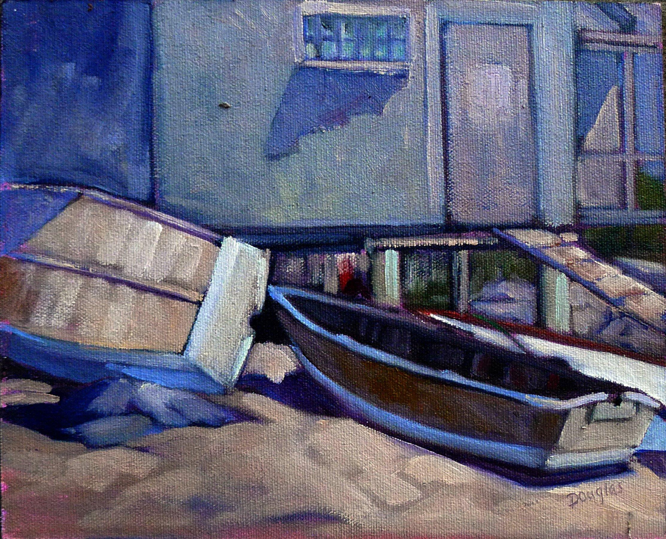 Fish Beach, oil on canvas