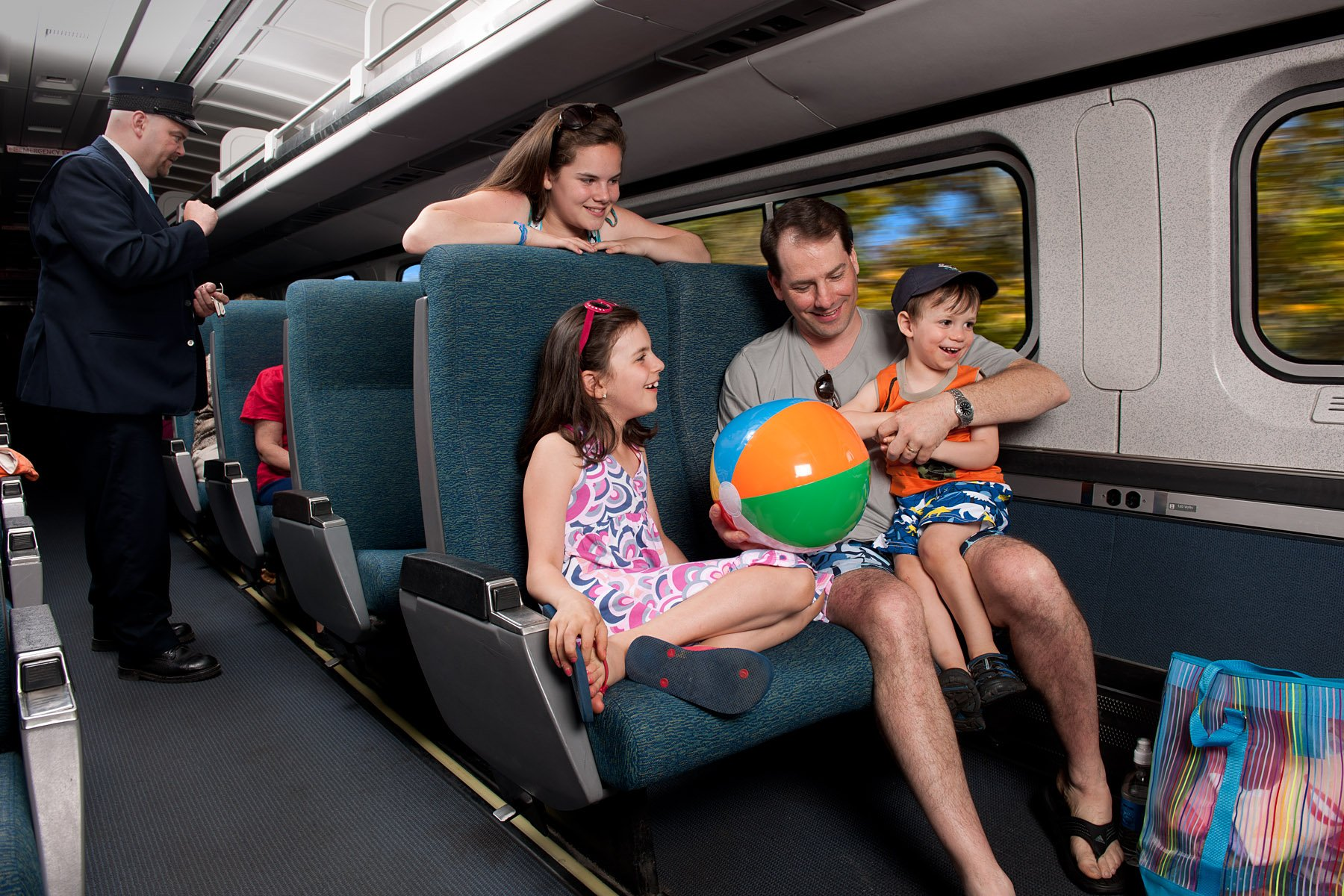A family trip on the Amtrak Downeaster.