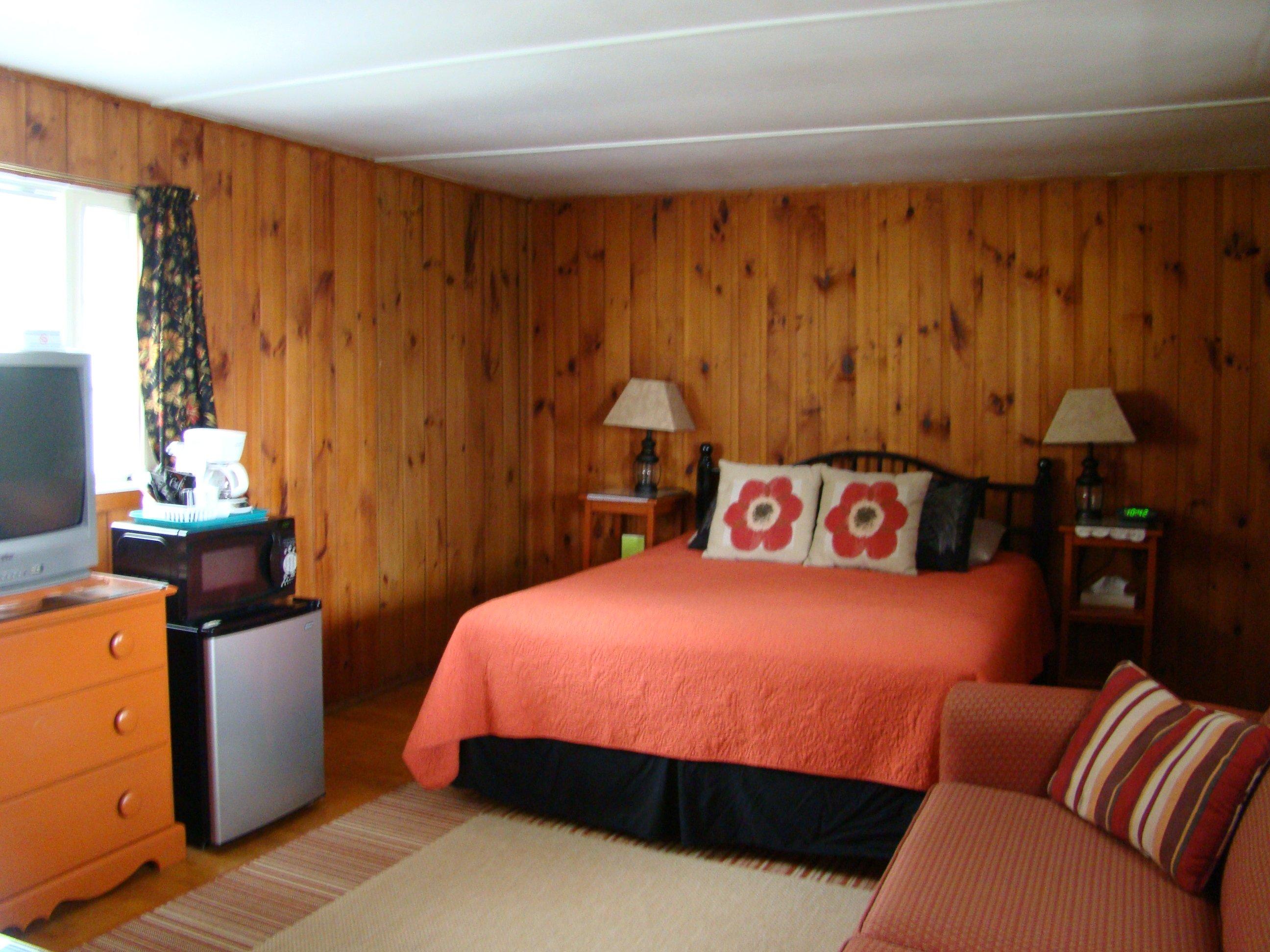 Motel room #15 - queen bed, full sleeper sofa, TV, refrigerator, microwave, coffeemaker