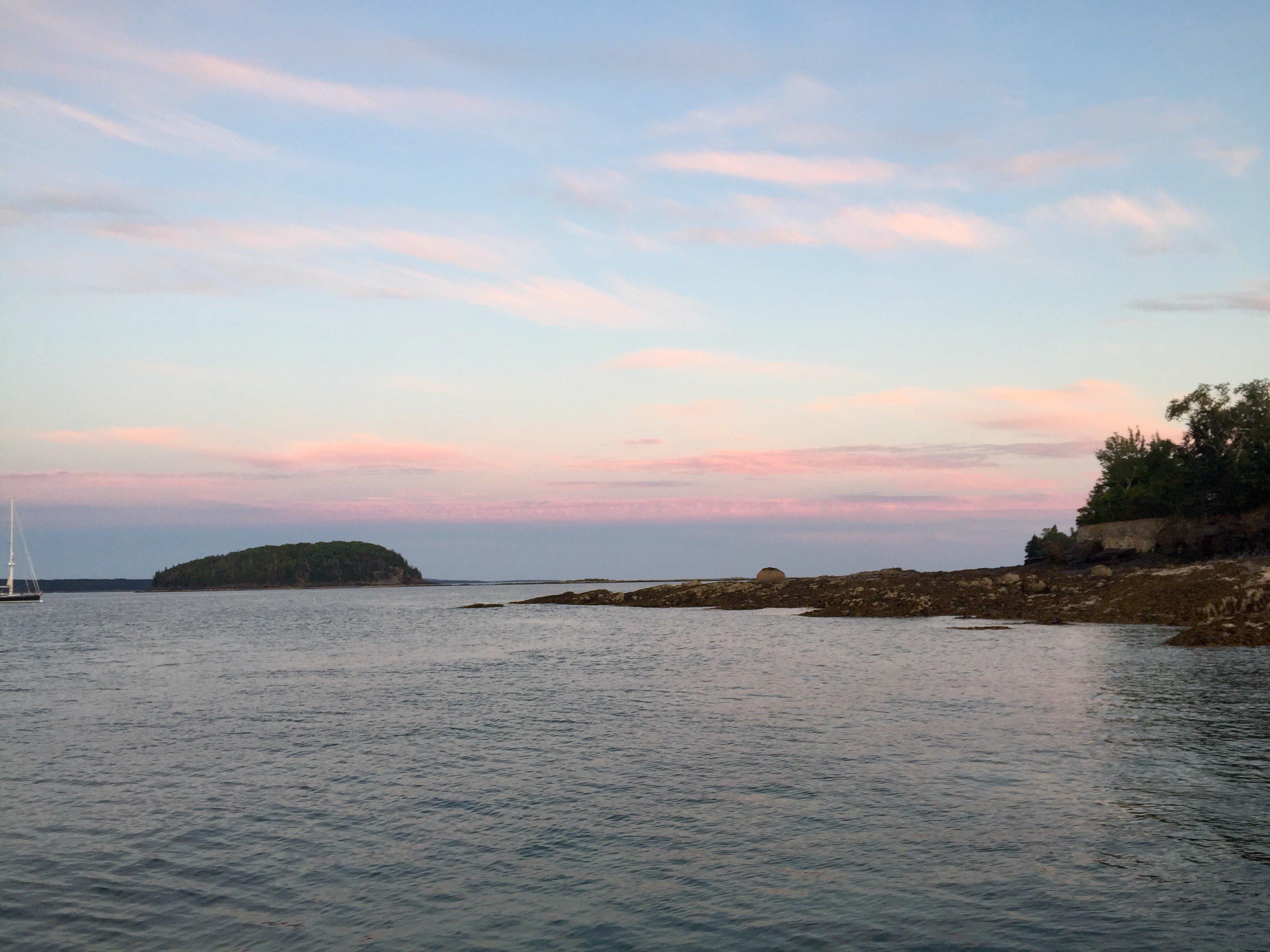 Sunset on the Bar Harbor Ferry