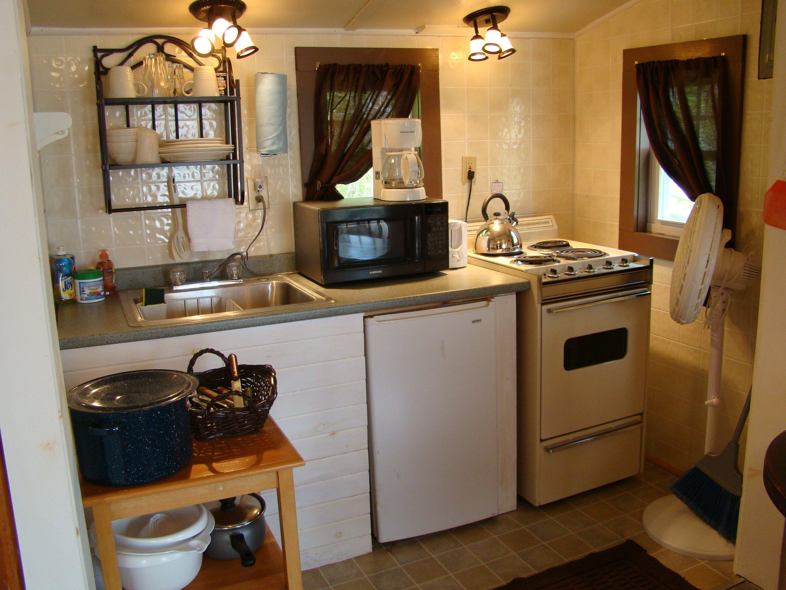 Kitchenette in Cottage 12