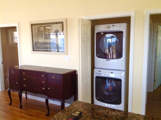 Washer and Dryer off of the kitchen