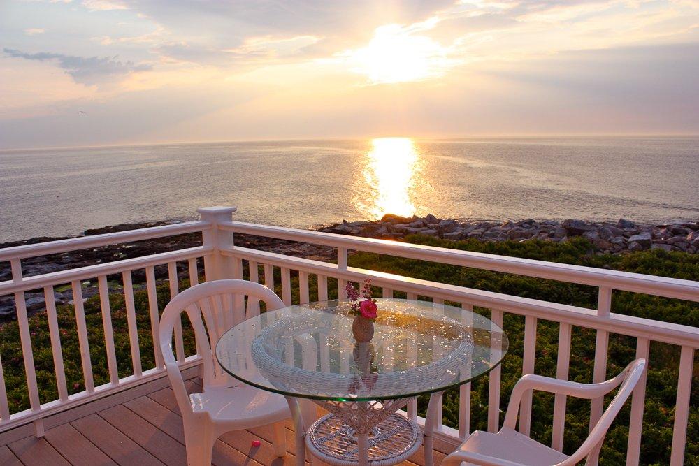 Nourish your spirit as the sun rises over the ocean.