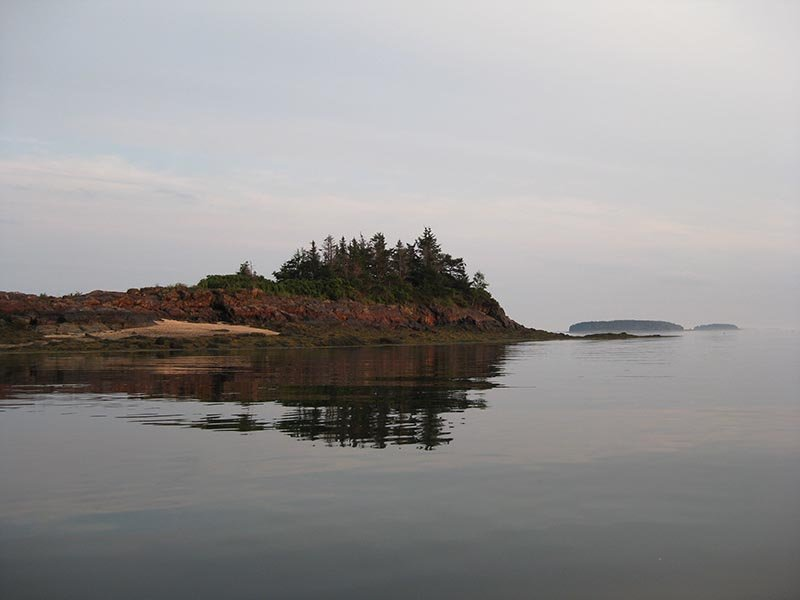Sunset in the Goslings, Casco Bay, Maine