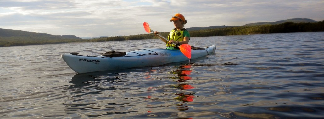 Kayaking on Flagstaff Lake