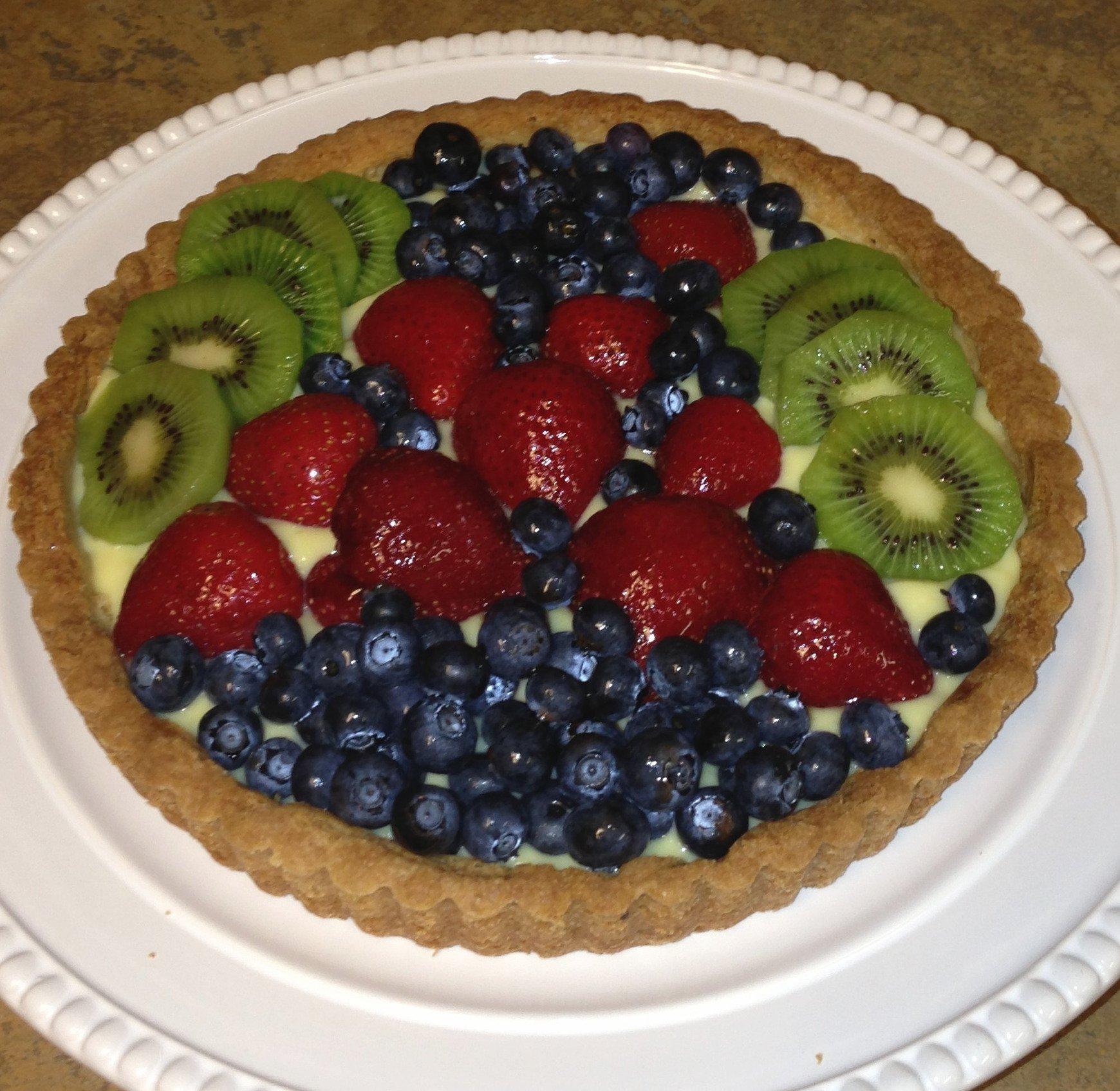 A little homemade Fruit Tart to start the day