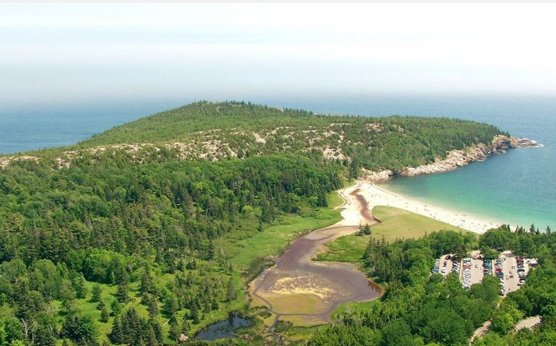 Sand Beach in Acadia National Park.