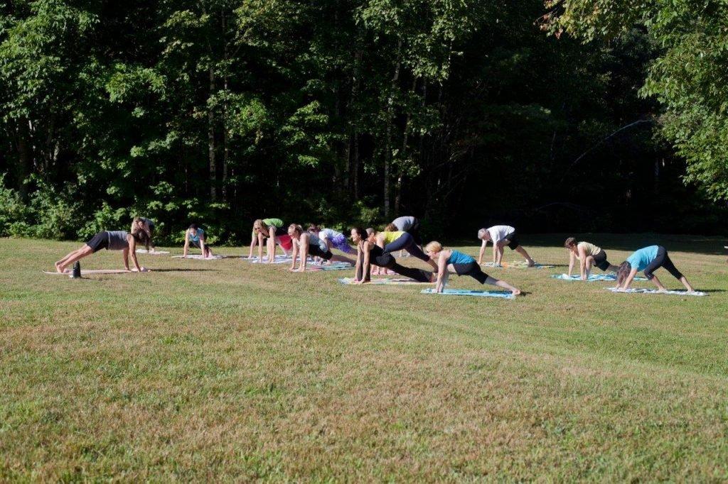 Outdoor Yoga before Breakfast