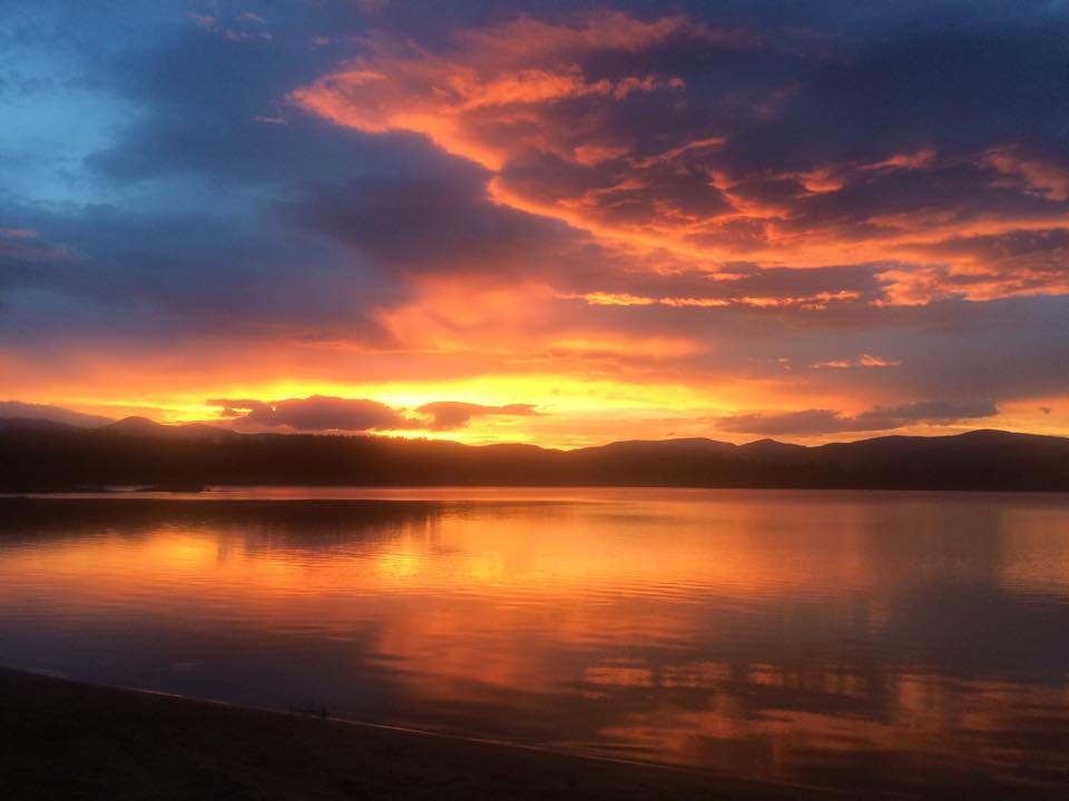 Located on the eastern shore of Kezar Lake allows us to capture the stunning sunsets!
