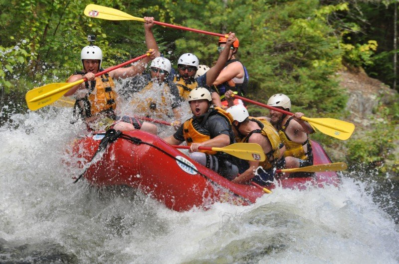 Maine White Water Rafting High Water Kennebec