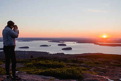 View from Cadillac Mountain at Sunset