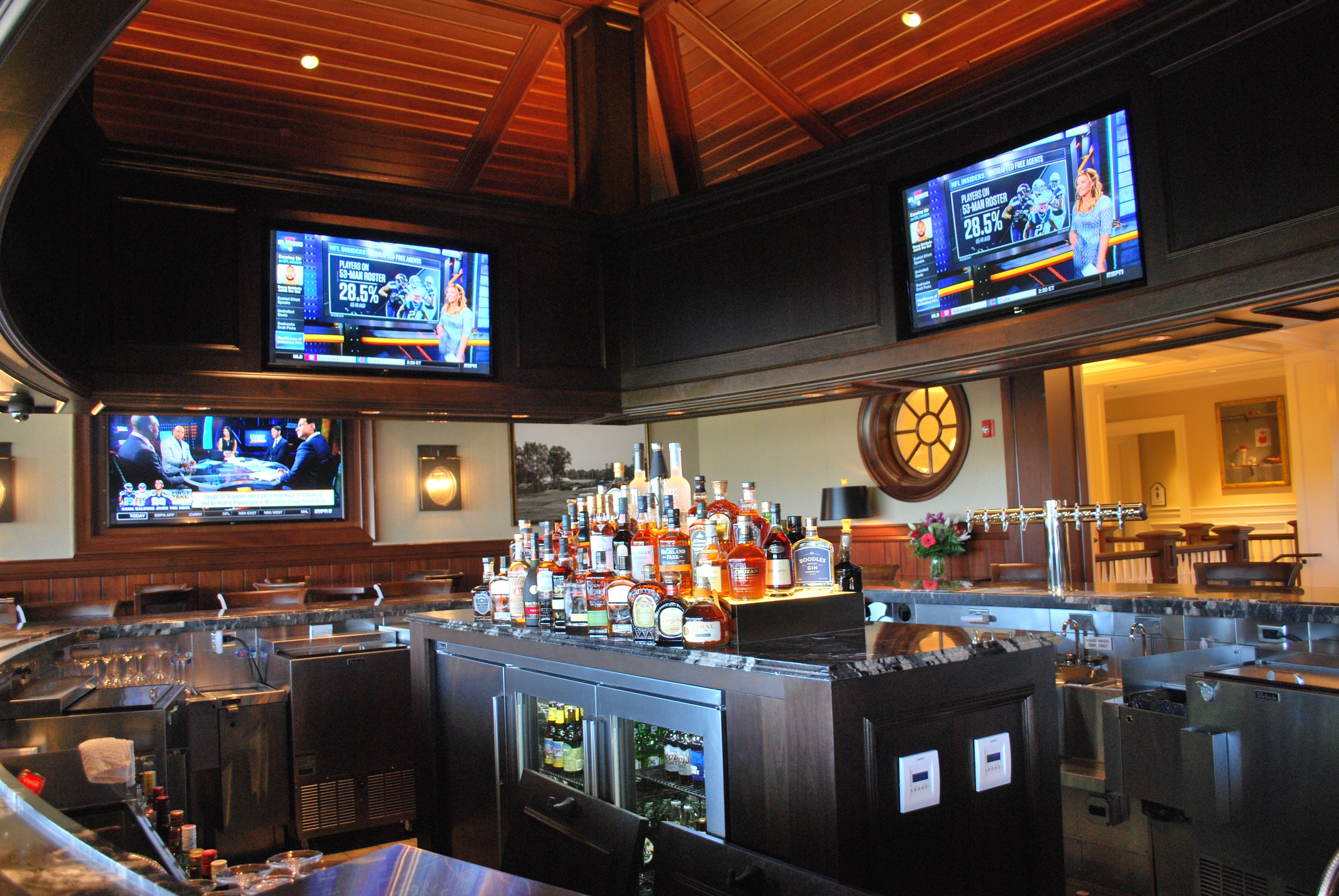 "80"" flat screens for your viewing pleasure"