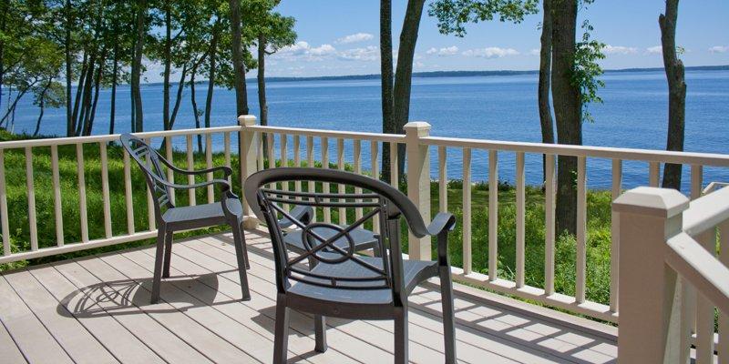 Private oceanfront decks