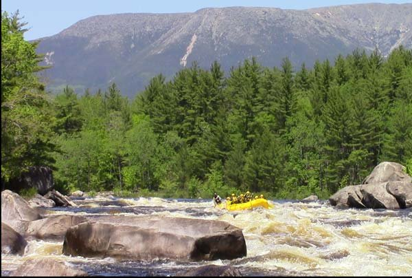 Penobscot River, floating by spectacular Mt. Katahdin