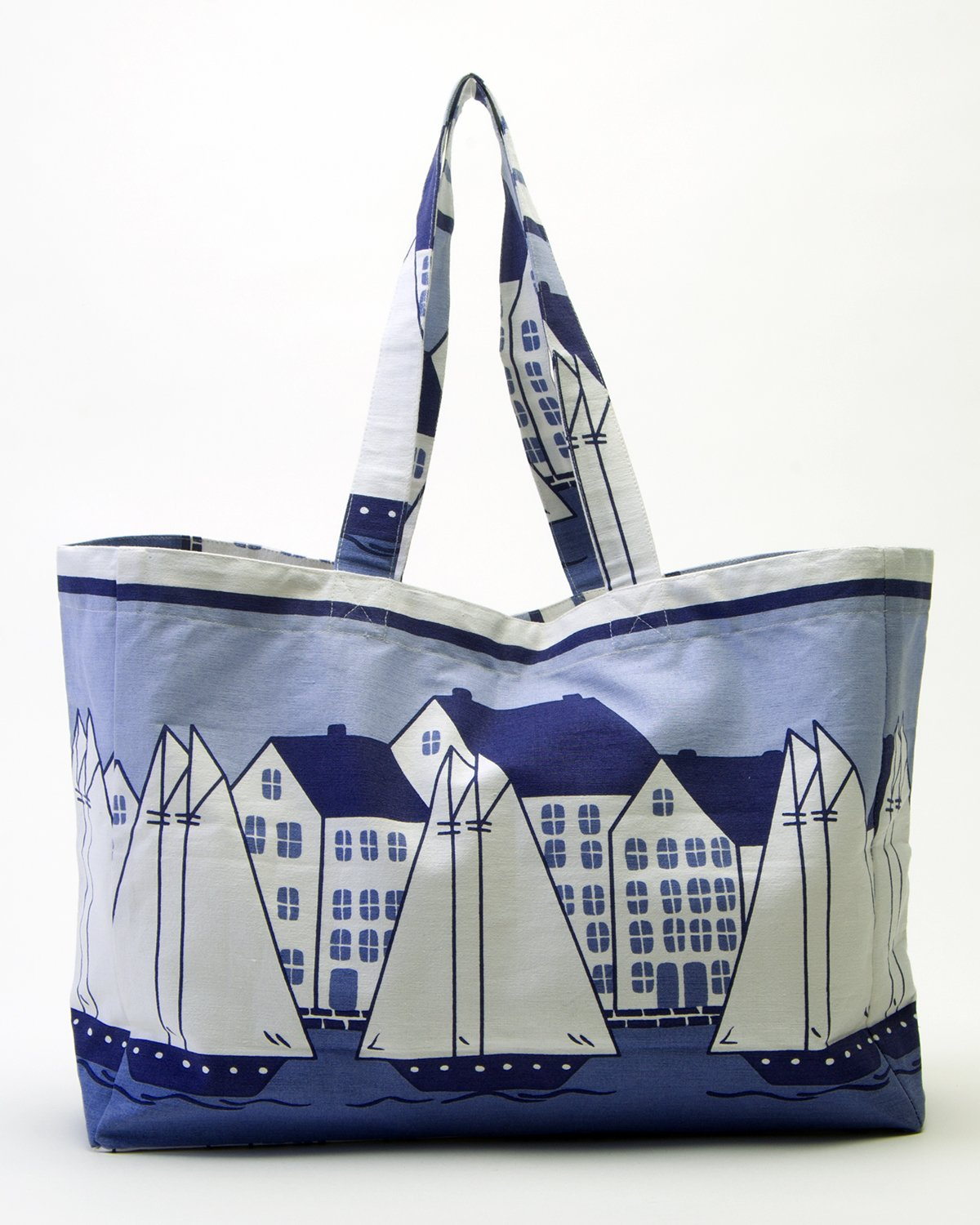 Everyday machine washable totes by SHARD ~ Classic Coastal Village plus several other prints available.