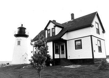 1891 photo of the Prospect Harbor Point Light.