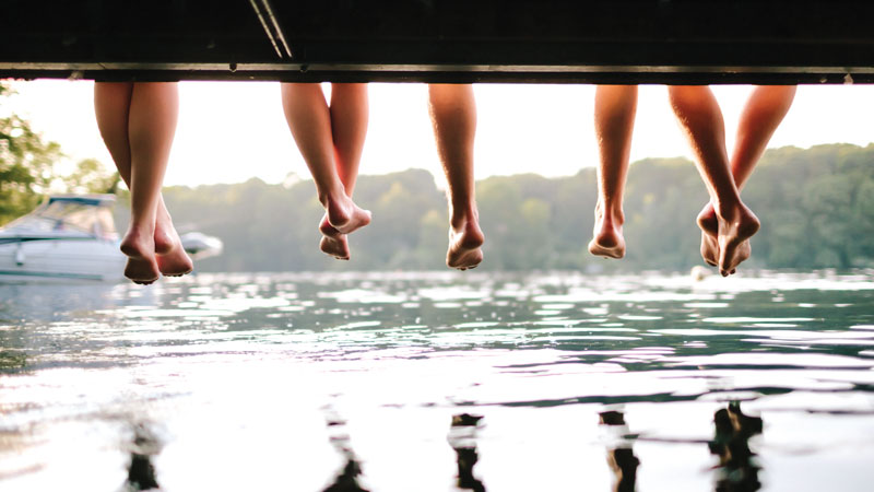 Dip your toes into the waters of the Belgrade Lakes.