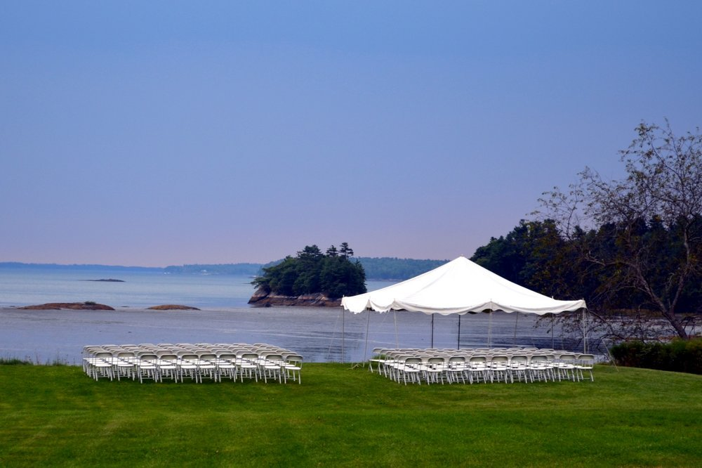 Oceanfront Wedding Field at Wolfe's Neck Farm