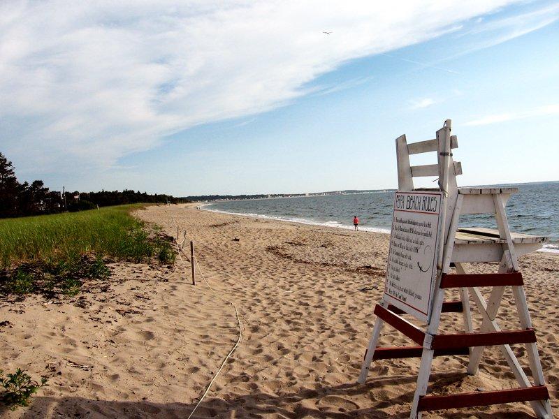 The beach at Ferry Beach State Park, Maine.