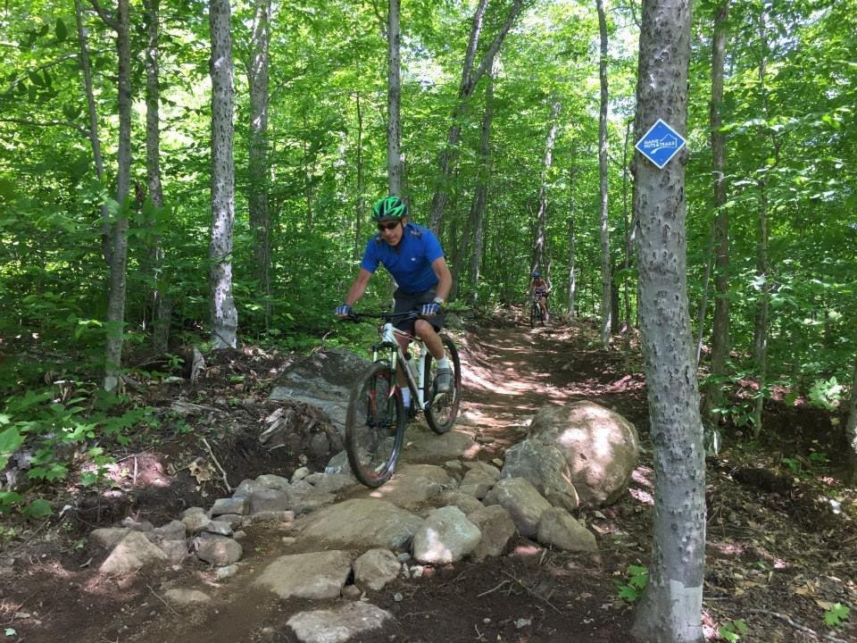 Biking down Oak Knoll Trail