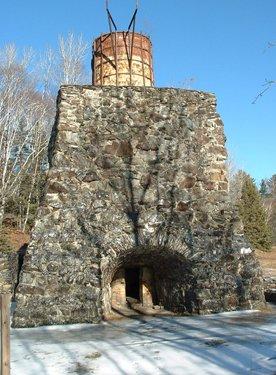 Remains of original blast furnace