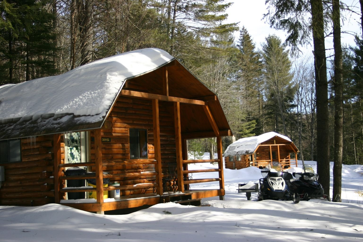 Our popular Cozy Cabins are 1 bedroom cabins that sleep 2-3 people.