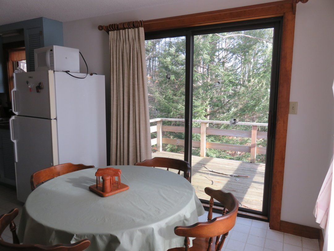 Dining area and back porch