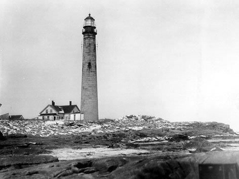 Historic photo of Petit Manan light station