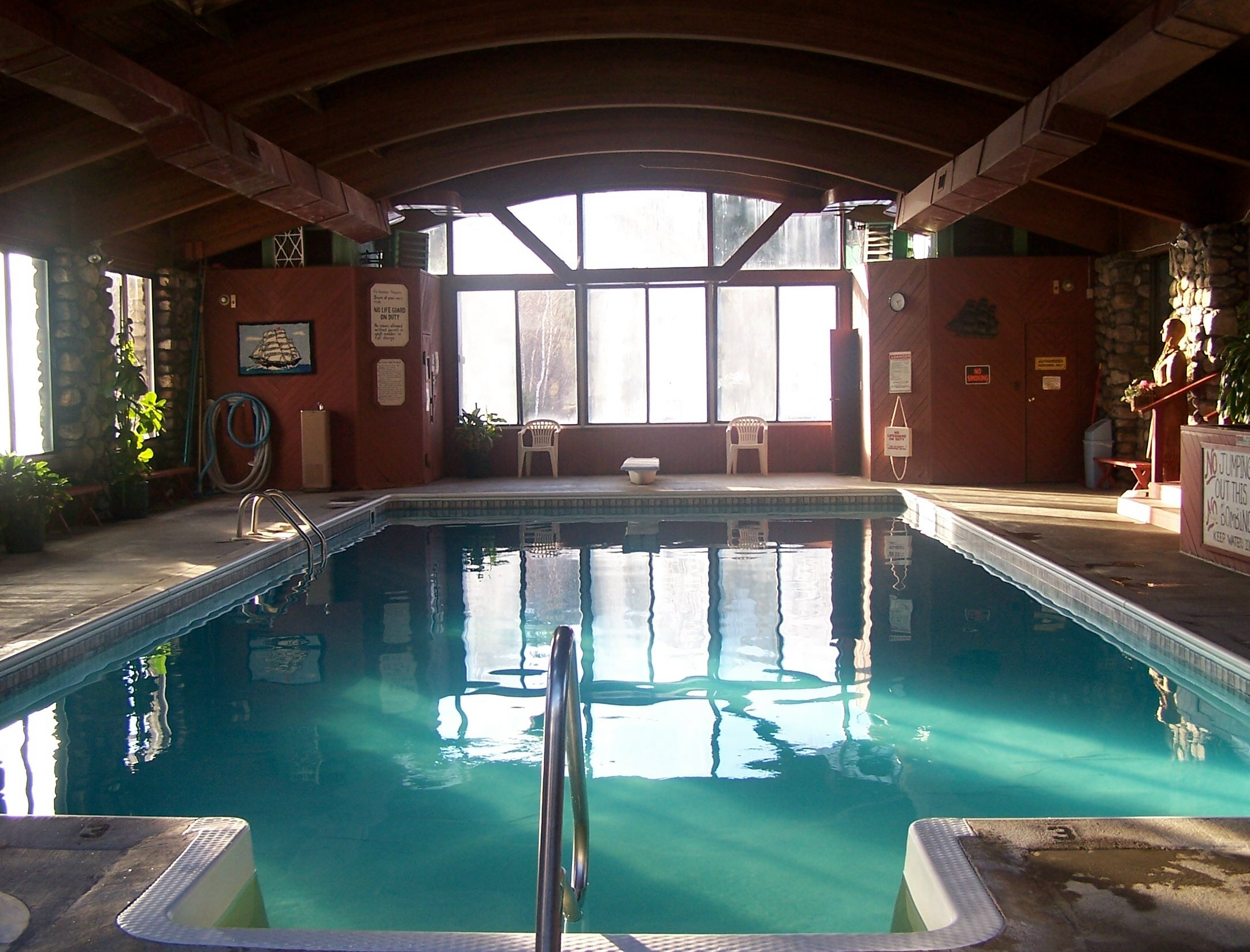 We have a lovely indoor heated pool and hot tub!