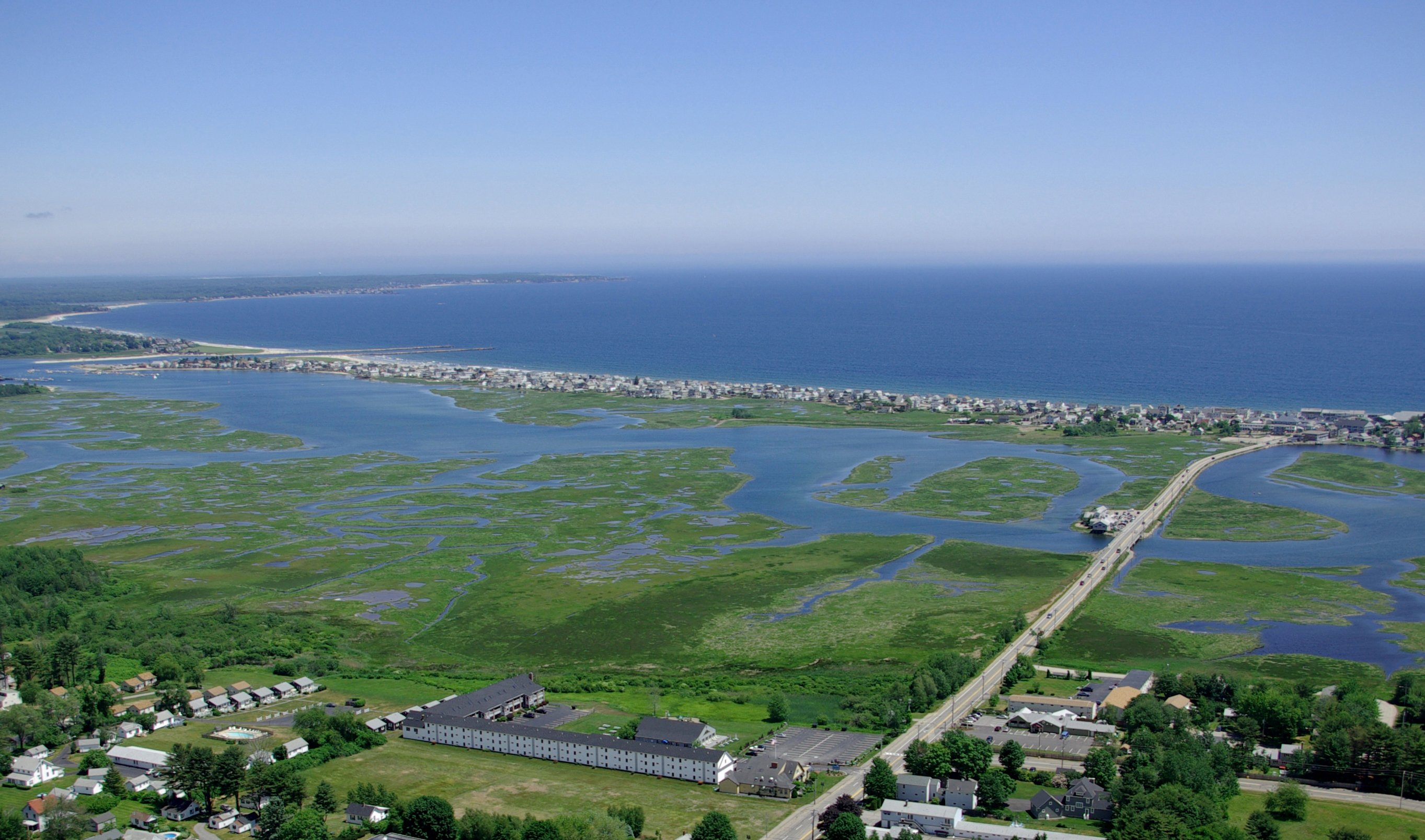 Aerial View of Misty Harbor
