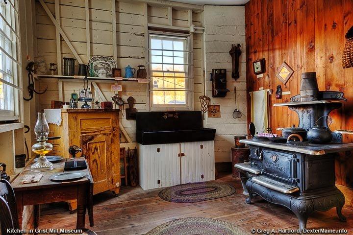 Kitchen Exhibit at Grist Mill Museum