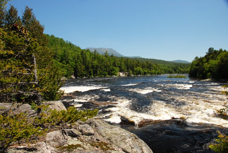 Big Eddy Rapids on Penobscot River.