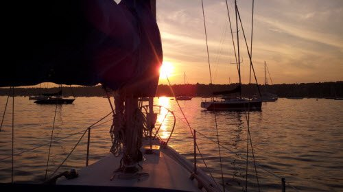 Sunset Sails are a special way of relaxing here in Maine
