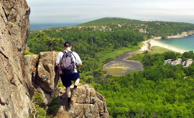 Hiker in Acadia National Park