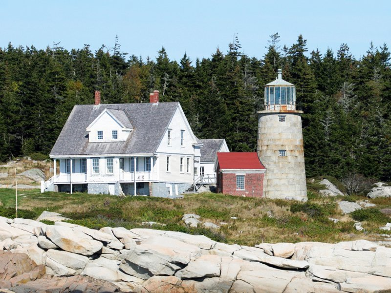 Whitehead Lighthouse sits at the southern entrance to Penobscot Bay in Maine.