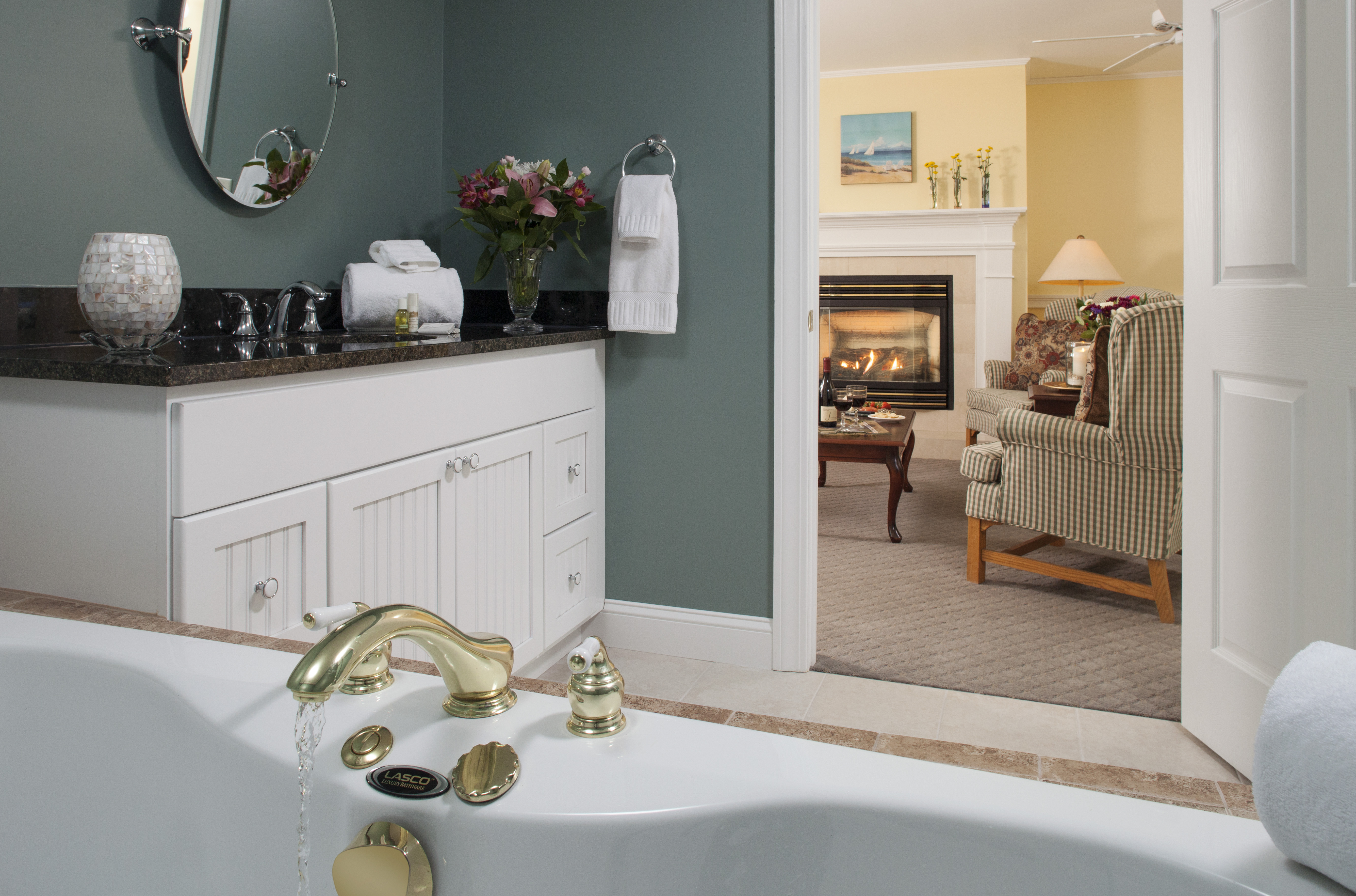 Reinvigorate in the large spa in our new Acadia Suite.