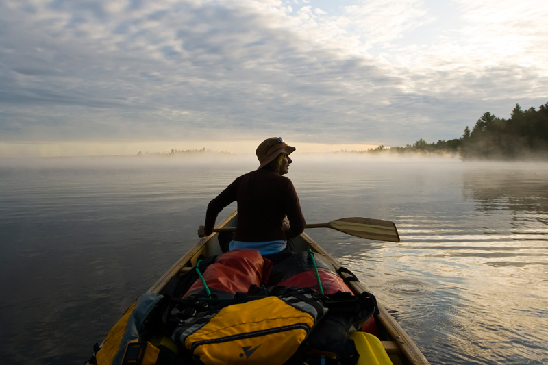 Early morning on Allagash Lake, Maine.