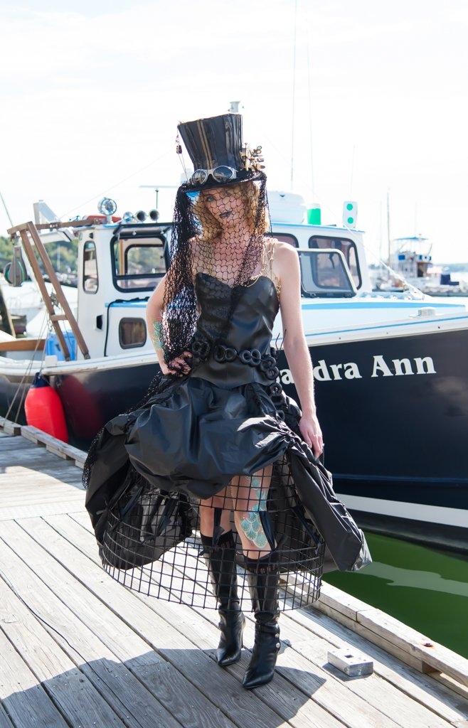 The Fishin' For Fashion Show, the only one of it's kind in Maine, features original designs made with materials from the fishing industry