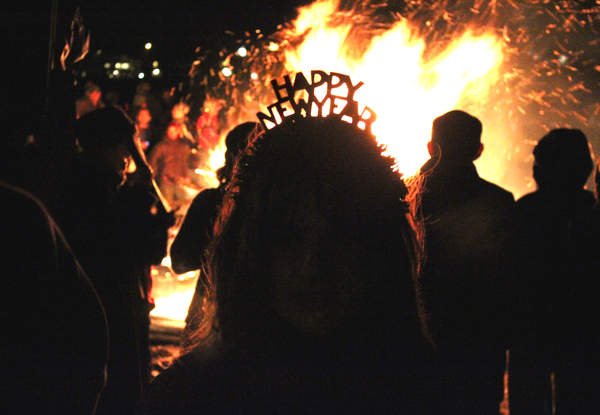 New Year By The Bay Bonfire