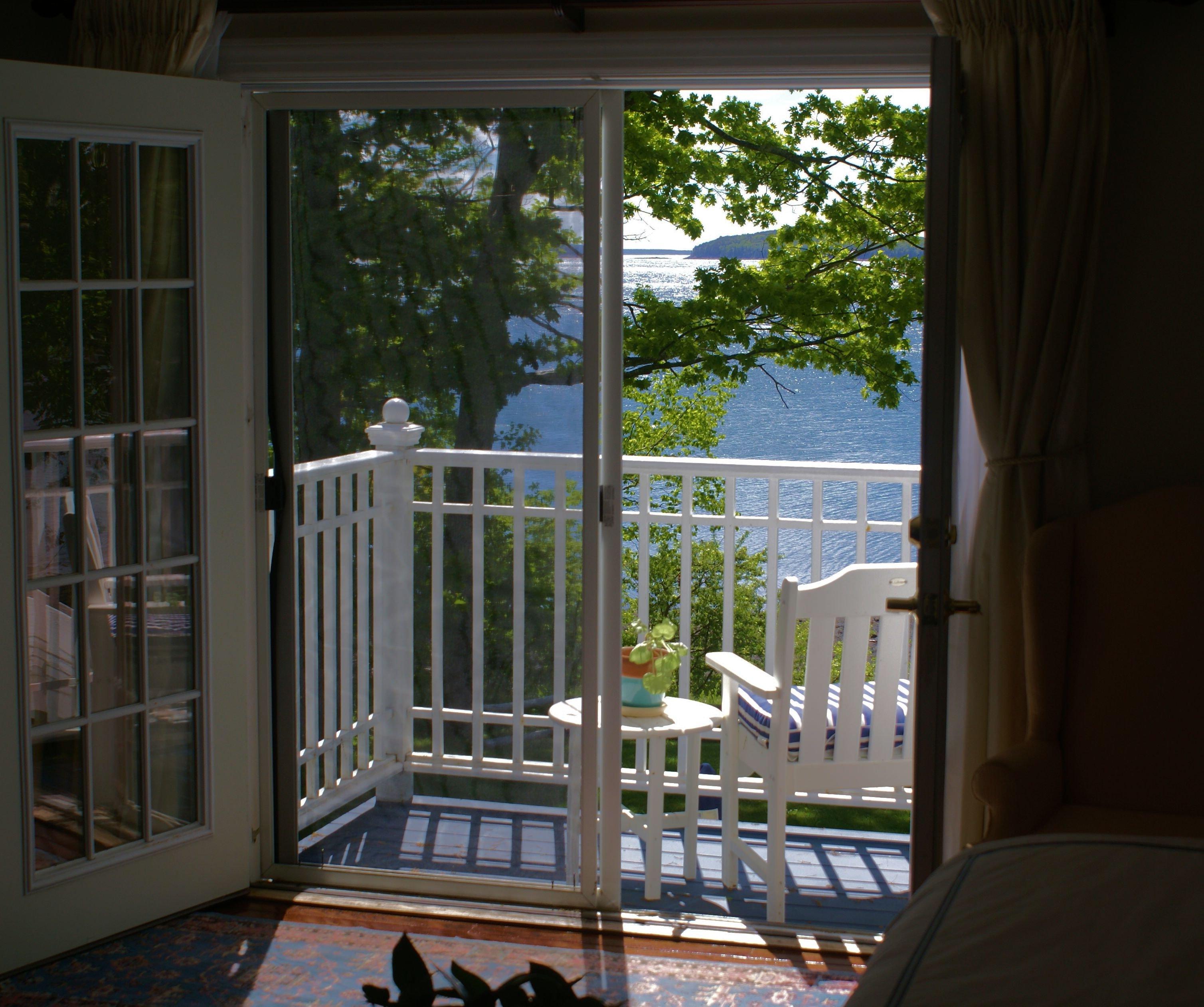 Mater Bedroom deck. Ocean view of North Atlantic.