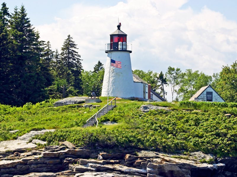 Burnt Island Lighthouse, Boothbay Harbor.
