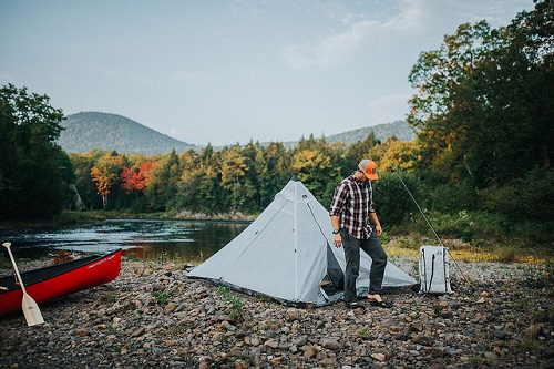 Wilderness camping in Katahdin Woods & Waters National Monument