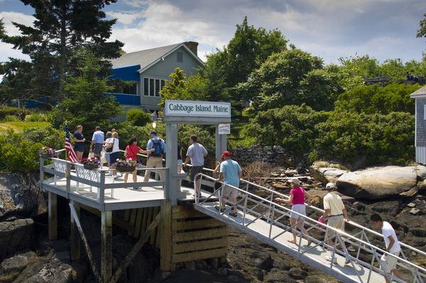 Take a ride to Cabbage Island from Boothbay Harbor