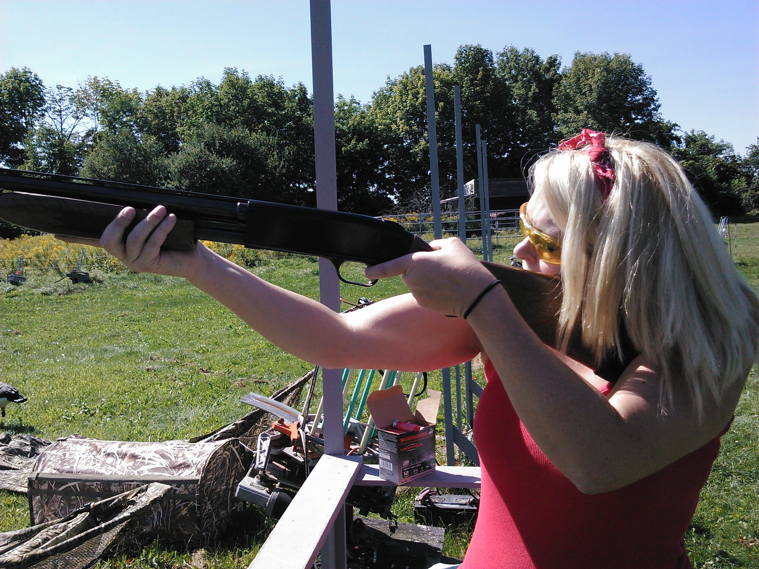 Learning to shoot sporting clays at Silverton Sporting Ranch