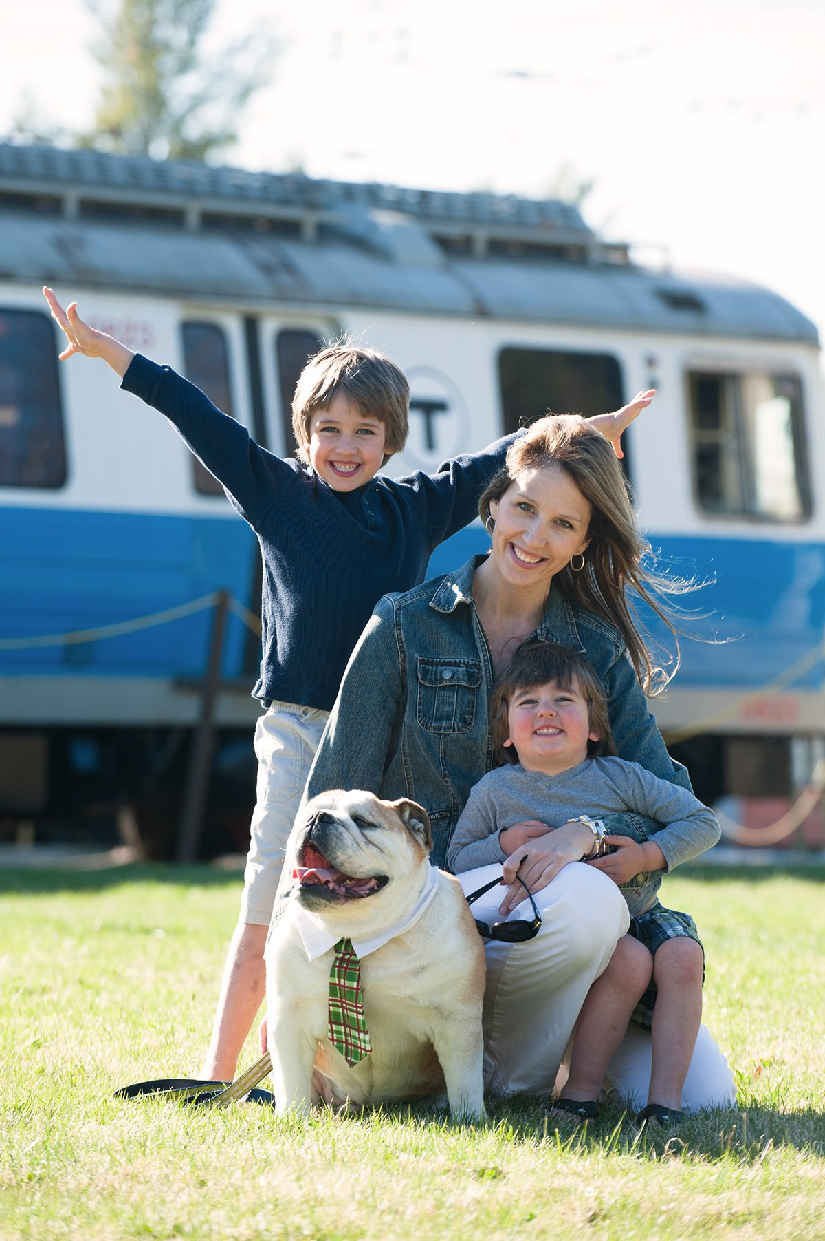Family enjoying a day at Seashore Trolley Museum