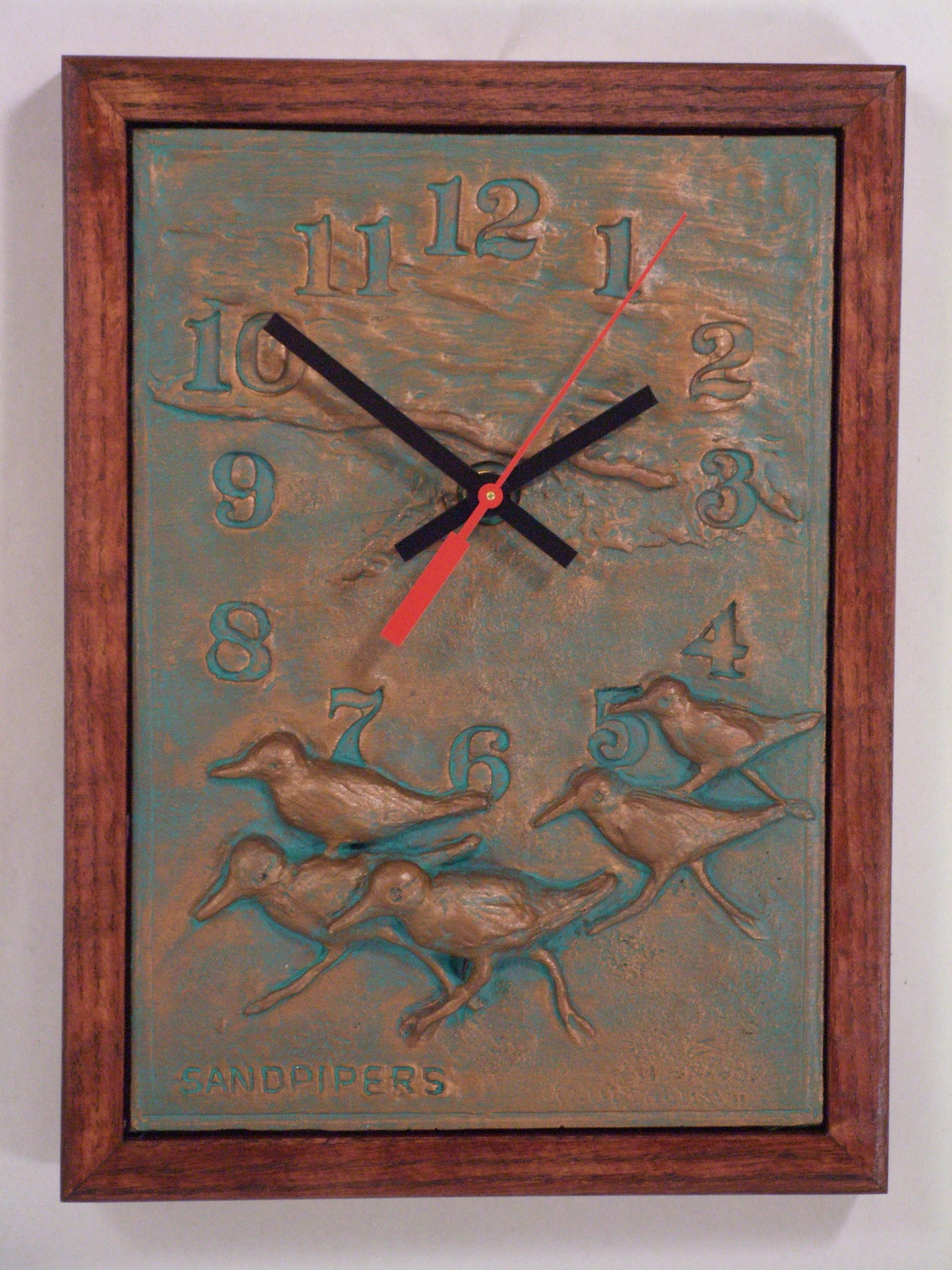 """Sand pipers"" clock"